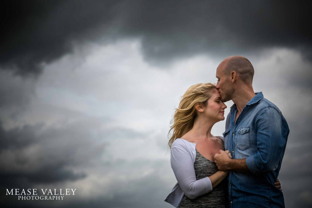 Birmingham Pre wedding shoot with stormy sky